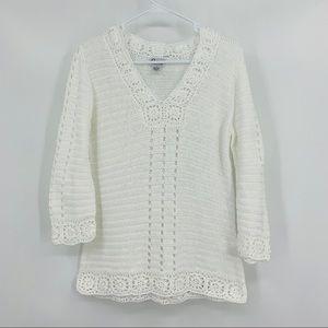 Lilly Pulitzer White Open Weave Sweater, Size S